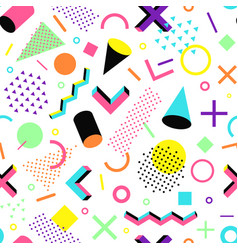 Pattern in 90s style vector