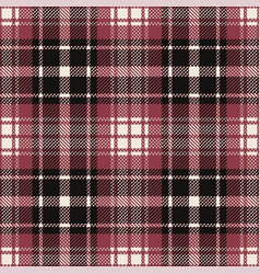 Plaid pattern seamless black pink red vector