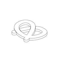 Pretzel icon isometric 3d style vector image