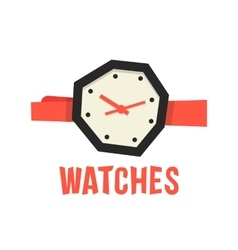 Red and black abstract watches vector
