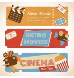 Retro movie banners vector