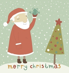 Santa Claus with Christmas toy vector image