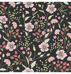 seamless cute little flower pattern vector image