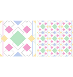seamless pattern with color elements vector image