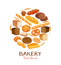 Set bread icons vector