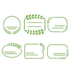Set of green frames on the theme of ecology vector