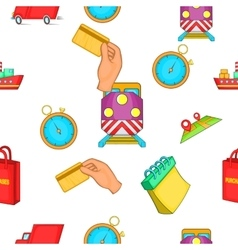 Shipping pattern cartoon style vector image