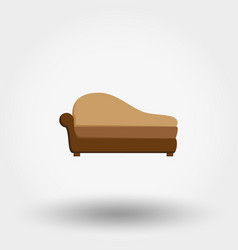 soft sofa icon vector image