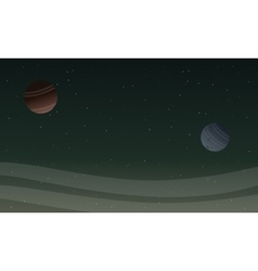 Space landscape with planet backgrunds vector