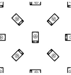 taxi app in phone pattern seamless black vector image