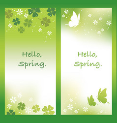 two abstract springtime background vector image