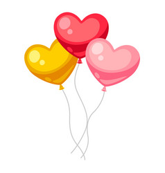 valentines day heart shaped balloons vector image