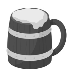 Viking ale icon in monochrome style isolated on vector