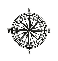 vintage compass wind rose icon vector image