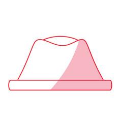 vintage hat fashion vector image