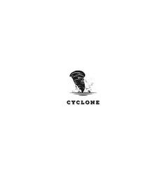 vintage retro typhoon cyclone hurricane tempest vector image