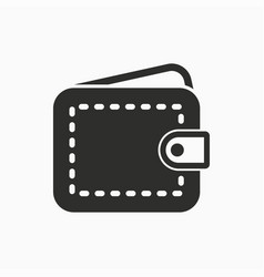 Wallet money icon simple pictogram for vector