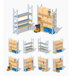 Warehouse shelves Empty and loaded vector image