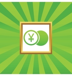 Yen coin picture icon vector image