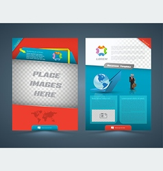 Abstract business concept Brochure Flyer design vector image vector image