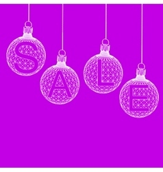 Christmas ball Design Sale Shopping offers vector image vector image