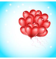 heat balloons flying vector image