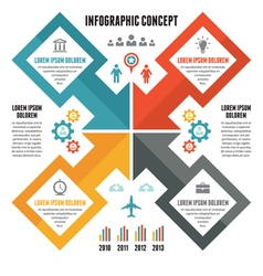 Infographic Concept - Scheme with Icons vector image