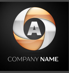 letter a logo symbol in the colorful circle on vector image