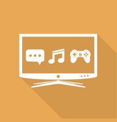 smart tv flat design icon vector image