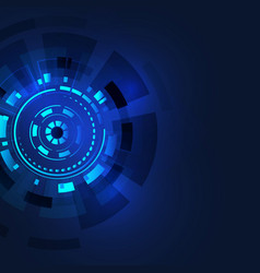 abstract technology round background vector image