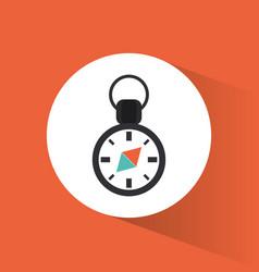 compass navigation location vacation travel vector image
