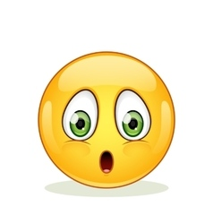 Confused emoticon on a white background vector image