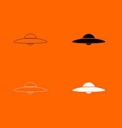 ufo flying saucer icon vector image vector image