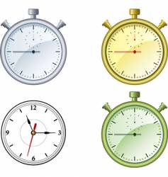 clock and stop watch vector image vector image
