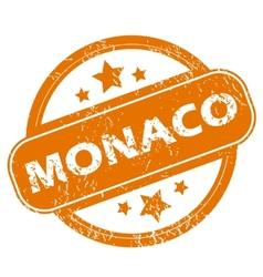 Monaco grunge icon vector image