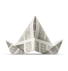 paper cap as origami vector image vector image