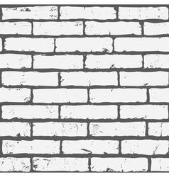 white seamless brick background vector image