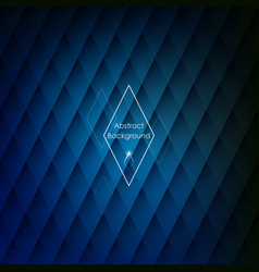 abstract rhombic blue background vector image vector image