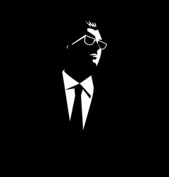 businessman with sunglasses vector image vector image