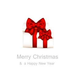 Christmas background with gift boxes vector image vector image