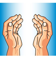 protecting hands of faith vector image