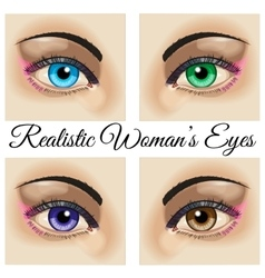 Realistic woman eyes vector image vector image