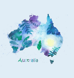 a stylized map of australia vector image