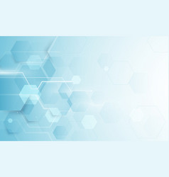 abstract repeating hexagonal futuristic technology vector image