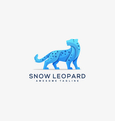abstract snow leopard concept template vector image