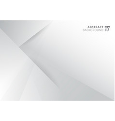 abstract template white and gray color modern vector image