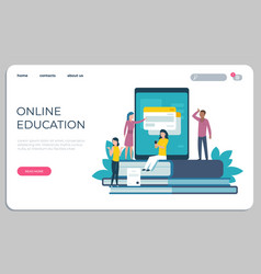 Accessible education website online learning vector