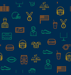 american football signs seamless pattern vector image