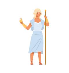 aphrodite or venus greek goddess love beauty vector image