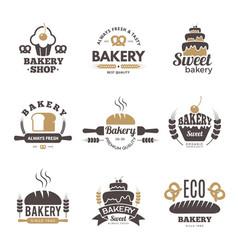 bakery labels cooking symbols kitchen vector image